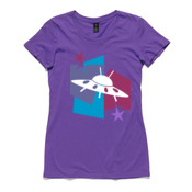 Flying saucer - Women's Wafer Boutique Fashion Tee by 'As Colour '